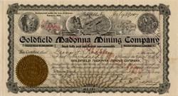 Goldfield Madonna Mining Company - Goldfield, Nevada - 1907