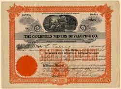 Goldfield Miners Developing Co. - Arizona 1905