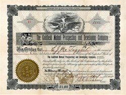 Goldfield Mutual Prospecting and Developing Company - Nevada. Esmeralda. Goldfield - Incorporated in Territory of Arizona 1905