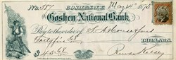 Goshen National Bank - New York 1875