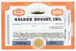 Golden Nugget, Inc. (Steve Wynn as President) - 1975 Las Vegas, Nevada