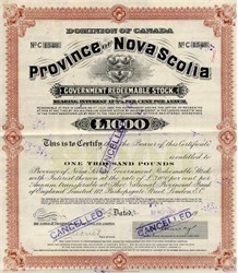 Government of the Province of Nova Scotia - 1904