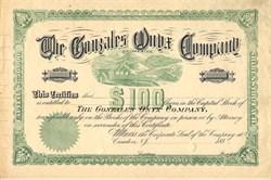 Gonzales Onyx Company - Mexico 1880's