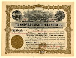 Goldfield Princeton Gold Mining Co., - Arizona 1906
