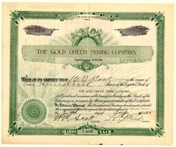 Gold Queen Mining Company - Wyoming 1905
