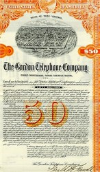 Gordon Telephone Company of Charleston Gold Bond 1902