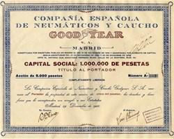 Compañía Española de Neumáticos y Caucho Goodyear S.A. - Madrid 1926