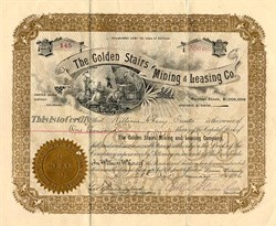 Golden Stairs Mining & Leasing Co. - Cripple Creek, Colorado 1896