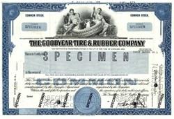 Goodyear Tire & Rubber Company -Specimen - New York 1980