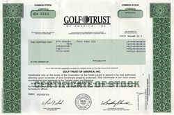Golf Trust of America (Company double bogeyed in quicksand trap)