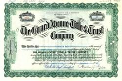 Girard Avenue Title & Trust Company 1931