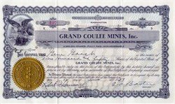 Grand Coulee Mines 1937