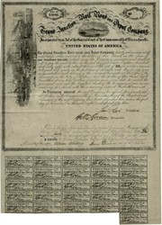 Grand Junction Rail Road and Depot Company 1853 - Early Convertible Bond