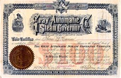 Gray Automatic Steam Governor Company 1889 - Virginia