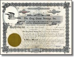 Gray Goose Airways, Inc. 1933 - Airplane was suppose to flap its wings like a goose