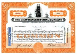 Gray Telephone Company (Early 3 Coin Slot Candlestick Pay Phone Vignette)