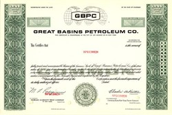Great Basins Petroleum Co. - Colorado