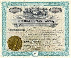 Great Bend Telephone Company - North Dakota 1907