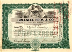 Greenlee Bros. & Company (Now Textron)  - Chicago, Illinois 1917