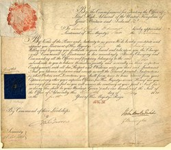 Naval Appointment signed by Sir John Barrow (Named Point Barrow Alaska after him ) - 1831