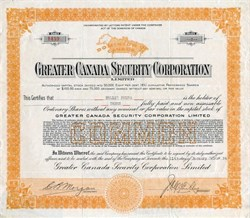 Greater Canada Security Corporation - Canada 1924