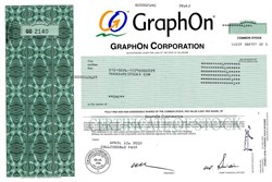 GraphOn Corporation - Delaware 2002