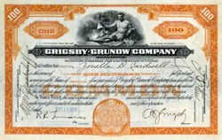 Grigsby - Grunow Company - Illinois 1929 signed by B. J. Grigsby