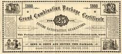 Stafford Card Works -Meriden, Connenticut 1888