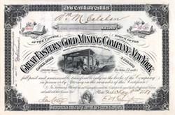 Great Eastern Gold Mining Company of New York 1881 - Black Hills, Dakota Territory