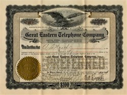 Great Eastern Telephone Company -  South Dakota 1905