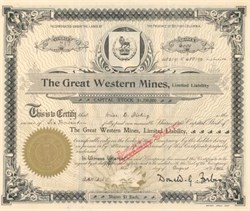 Great Western Mines 1902 - British Columbia, Canada