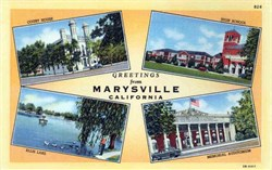 Greetings from Marysville, California Postcard