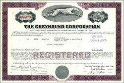 "Greyhound Corporation - Famous Bus Company ""Leave the driving to us"""