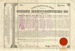 Greene Manufacturing Company - Rhode Island 1882