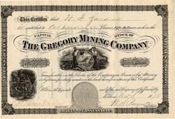 Gregory Mining Company - Jefferson City, Montana Territory - 1876