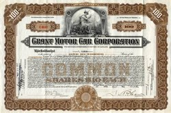 Grant Motor Car Company - 1922