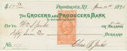 Grocers & Producers Bank 1870's