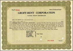 Groff - Bent Corporation 1925