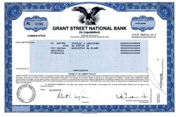 Grant Street National Bank (in Liquidation) - Pennsylvania 1988