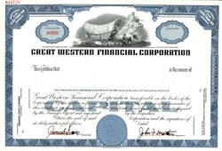 Great Western Financial Corporation  (Namesake Great Western Forum - Lakers/Kings) - Delaware