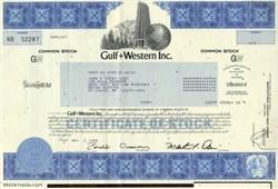 Gulf and Western Inc. - 1988 ( Now Viacom )