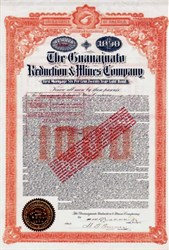 Guanajuato Reduction & Mines Company Gold Bond - Guanajuato District, Mexico 1904