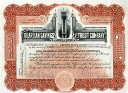 Guardian Savings and Trust Company - Cleveland, Ohio, 1915