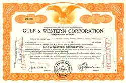Gulf & Western Corporation ( Became Paramount Pictures - Now Viacom ) 1959 - Michigan