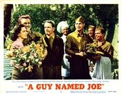 A Guy Named Joe Lobby Card Starring Irene Dunne and Van Johnson - 1955