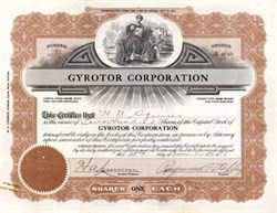 Gyrotor Corporation 1916 - Nevada