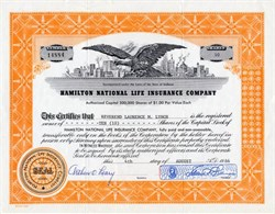 Hamilton National Life Insurance Company - 1964
