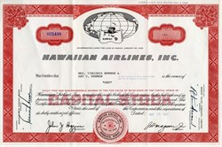 Hawaiian Airlines, Inc. - Honolulu, Hawaii 1967