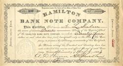 Hamilton Bank Note Company - New York 1883 ( Famous Bank Note Printer )