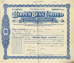 Harper Bean Limited - London, England 1920